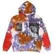 画像1: GRIMEY / liveution magic 4 resistance tie dye hoodie (1)